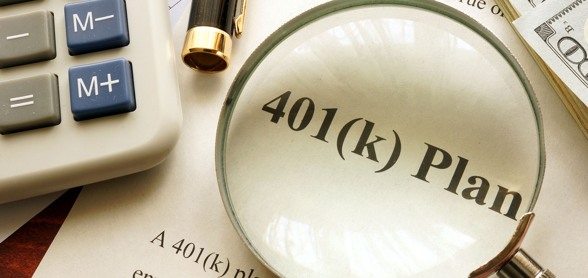 Image of a desk with 401(k) Plan