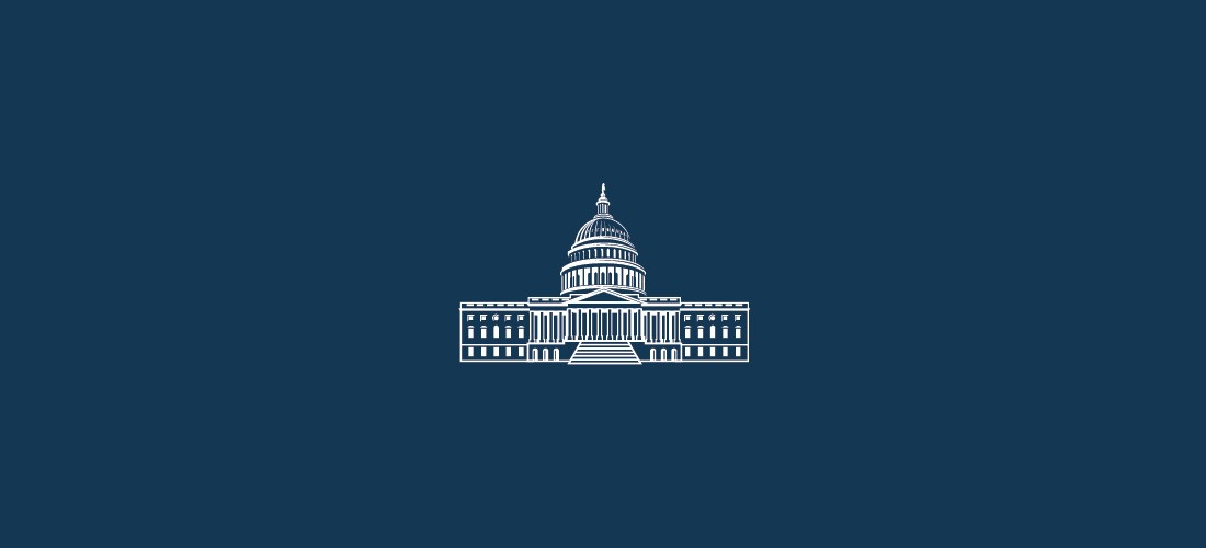 Illustration style graphic of the United States Capitol Building