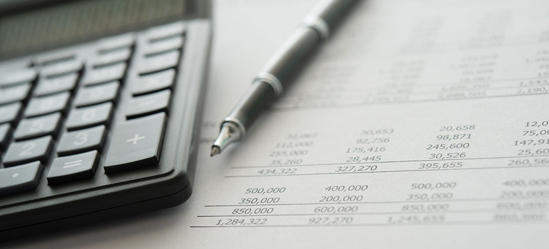 Photo of printed financial reports