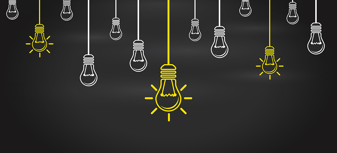 graphic of lightbulb icons symbolizing new ideas and opportunities
