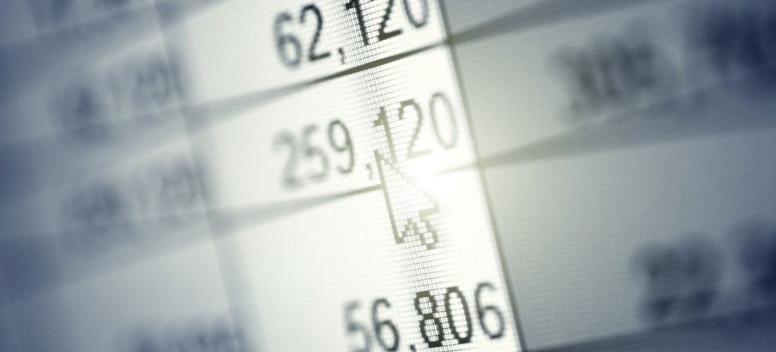 Image of accounting spreadsheet