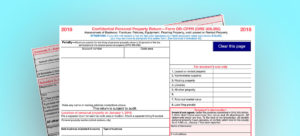 Image of Personal Property Tax Form
