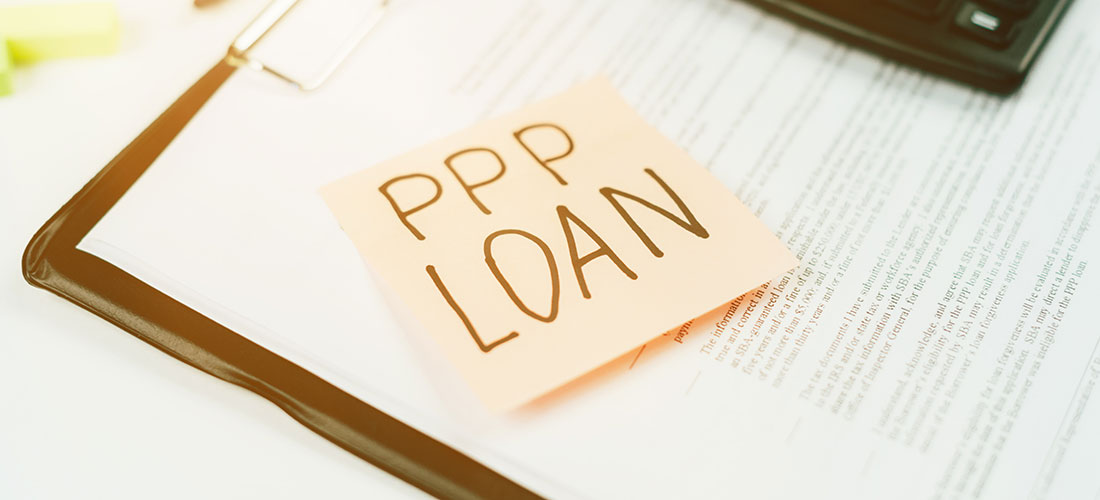 "photo of a sticky note that reads ""PPP Loan"""