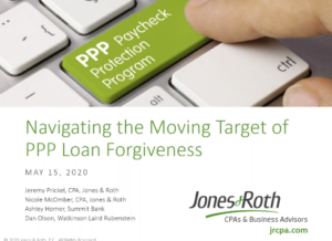 Image of the PPP webinar title slide