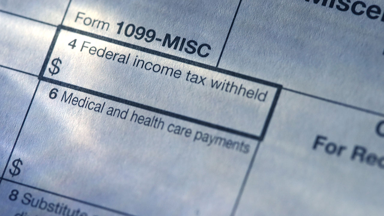 photo of tax form 1099