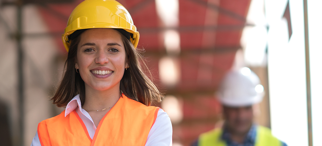 Photo of a strong woman business leader in the Construction Industry