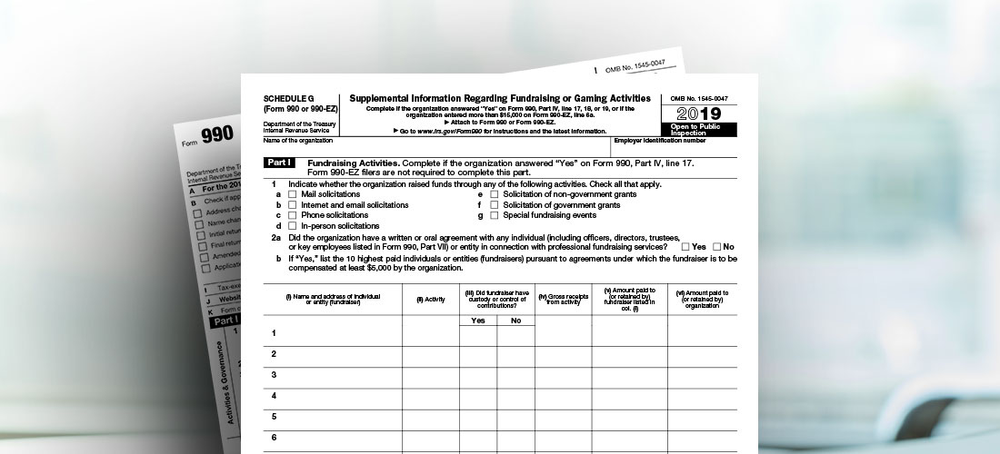 Image of IRS Form 990 Schedule G