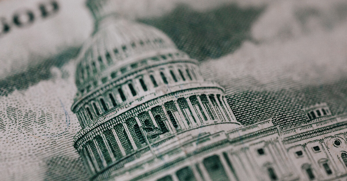 Image of the U.S. Congress building from currency