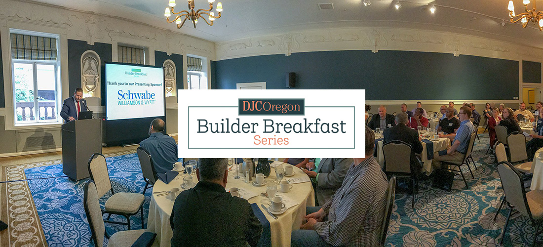 Daily Journal of Commerce - Builder Breakfast graphic