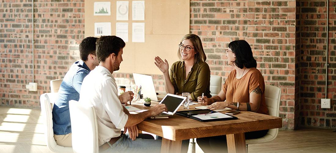 Photo of a nonprofit board of directors conducting a board meeting.