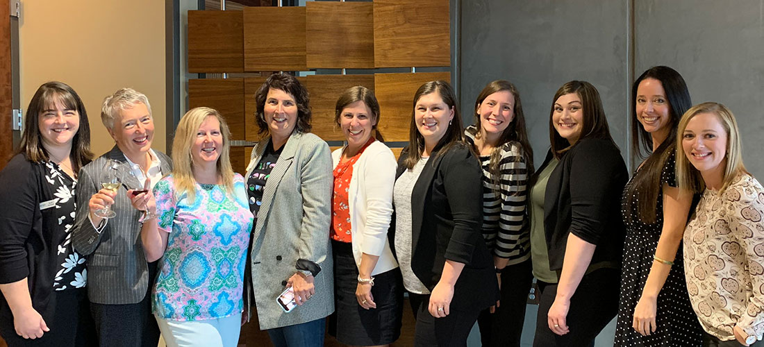Group photo of women leaders from Jones & Roth with guests at the 2019 Inspire event
