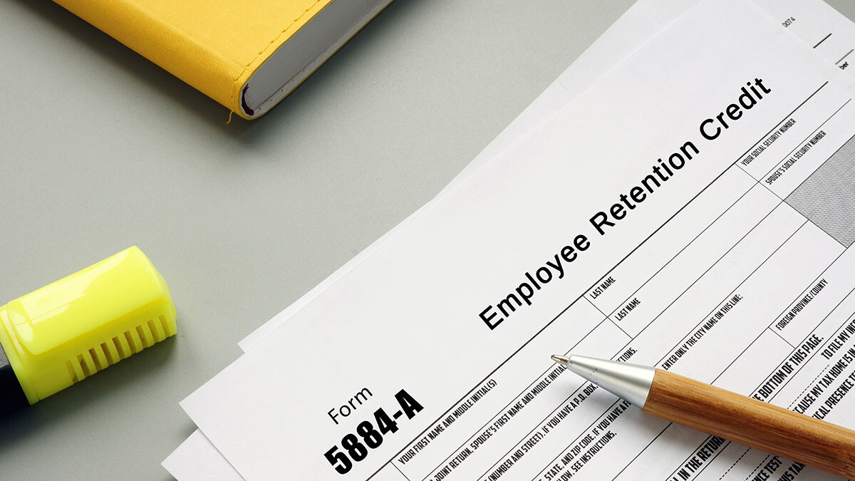 Image of tax forms for employee retention
