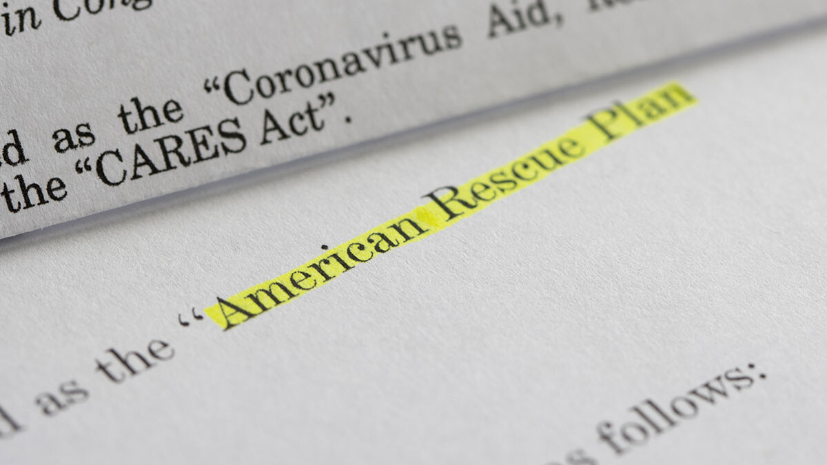 Image of document detailing the American Rescue Plan Act