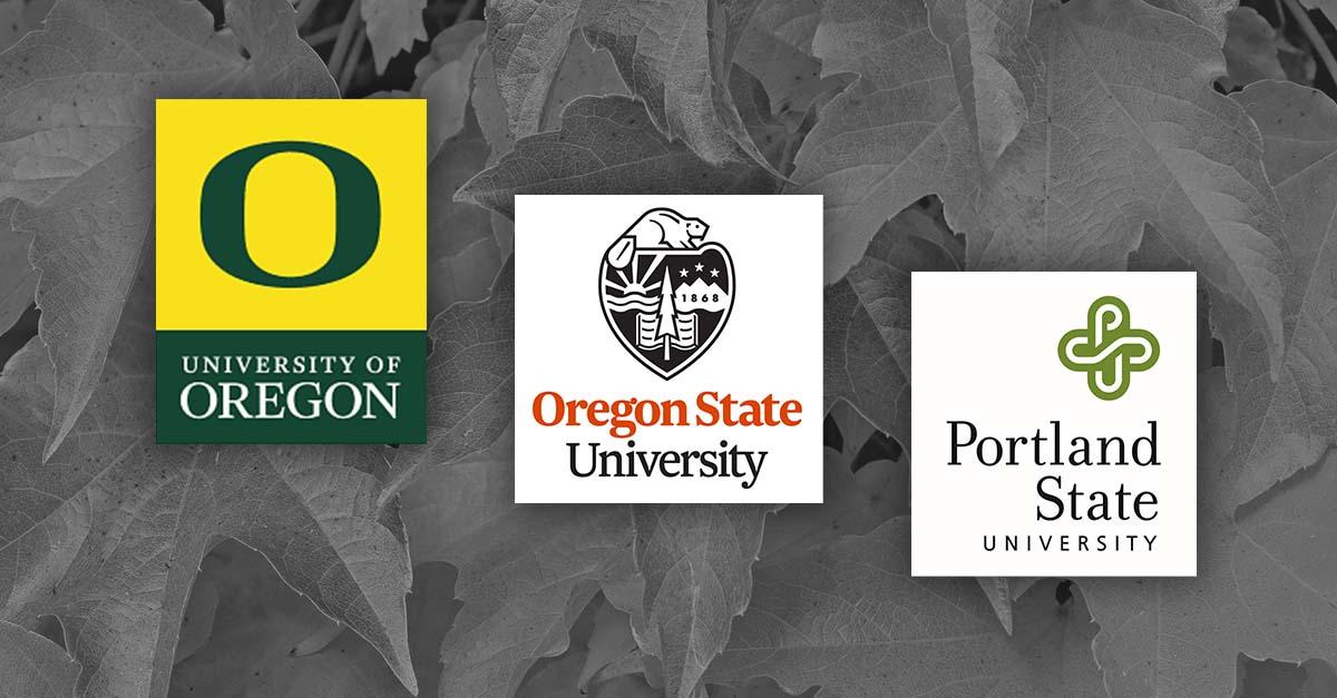 image of u of o osu and psu logos